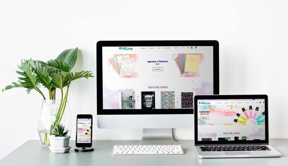 Criação de loja virtual - Papelaria Paulínia