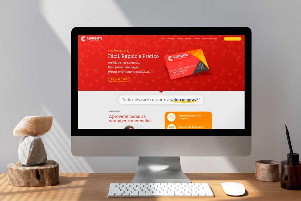 Versão Desktop - Website Cartão Calegaris