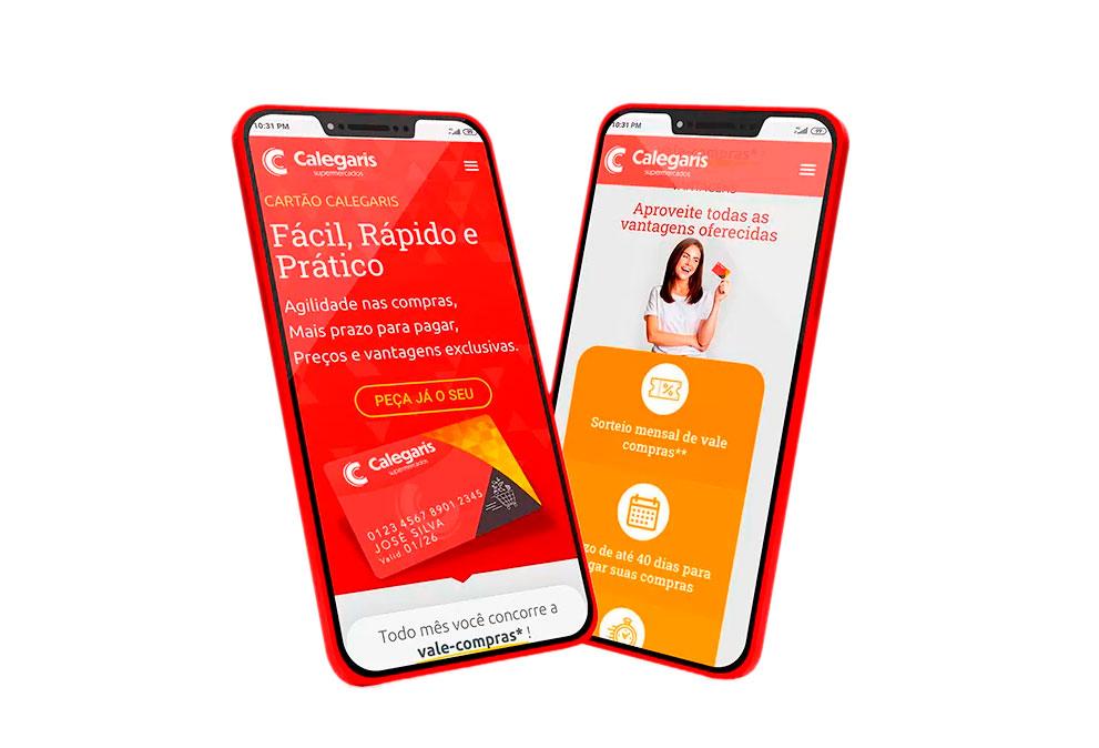 Versão Mobile - Website Cartão Calegaris